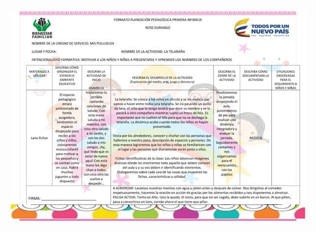 Modelos Planeaciones Pedagógicas