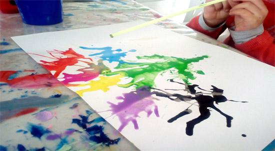 Pintar en formato grande y luego en hoja de papel