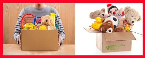 Donar juguetes o ropa usada